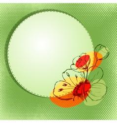 Bright flower vector