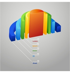 Half - circle colorful 3d diagram vector