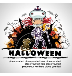 Spooky halloween composition 3 vector