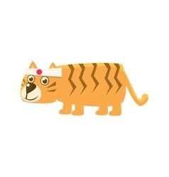 Tiger Wearing Japanese Headband vector image