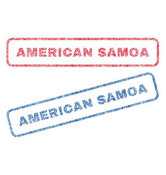 American samoa textile stamps vector
