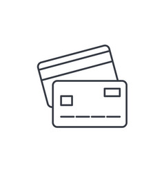 Bank card thin line icon linear symbol vector