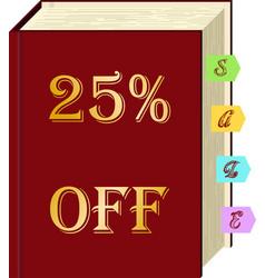 Book sale vector
