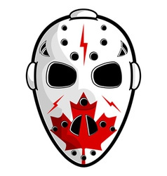 Canadian hockey mask vector image vector image