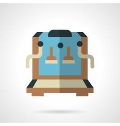 Color coffee machine shop flat icon vector image