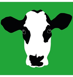 Cow head vector