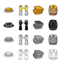 dessert with honey gloves of the beekeeper vector image