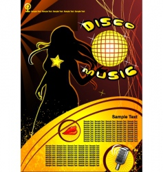 disco music vector image
