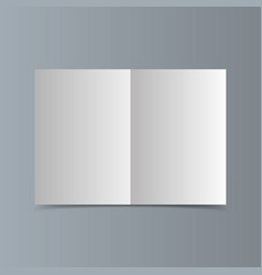 Empty horizontal white paper brochure mockup with vector
