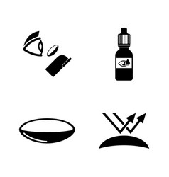 eye lens simple related icons vector image vector image