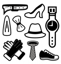 fashion icons vector image