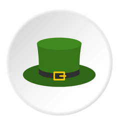 Leprechaun hat icon circle vector