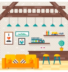 Loft Living Room 1 vector image