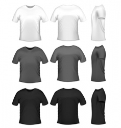men's t-shirts vector image