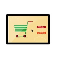 Online shopping banner vector image