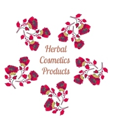 Organic cosmetics product logo natural vector
