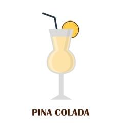 Pina colada coctail vector