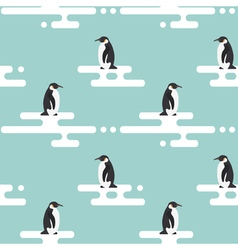 Seamless pattern with penguins standing on vector image vector image