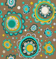 Seamless with abstract flowers vector