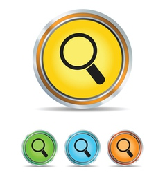 search icon circle vector image vector image
