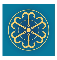 Six anchors in a circle vector image