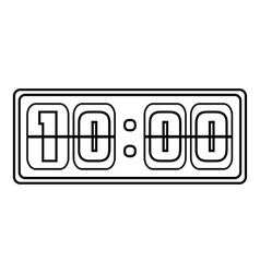 Square digital clock icon outline style vector