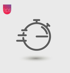 Stopwatch simple icon emblem isolated on grey vector