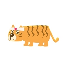 Tiger Wearing Japanese Headband vector image