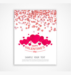 Valentine s day abstract background with paper vector