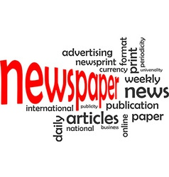 Word cloud newspaper vector