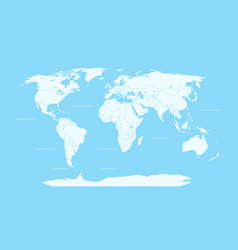 World map infographic layout world map globe vector