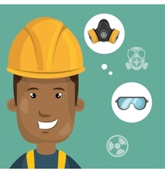 Man worker equipment protection vector