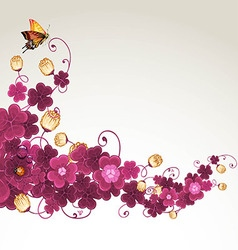 Abstract background with violet clover vector image