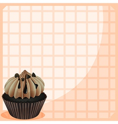 A stationery with a mouth-watering cupcake vector image
