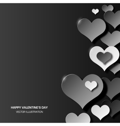 Abstract love background three dimensional black vector
