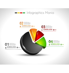 Infographic design template 3d pie vector