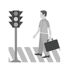 crossing road vector image