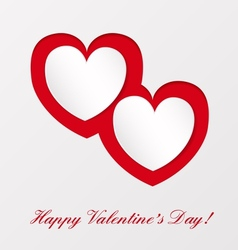 Greeting card on valentines day vector