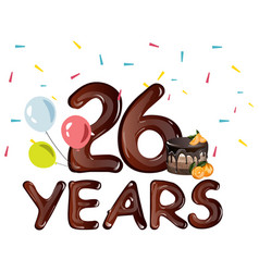 26th years greeting card anniversary vector image vector image