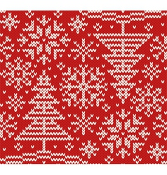 New year knitted northern seamless pattern vector