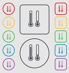 Thermometer temperature icon sign symbol on the vector