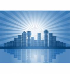 Abstract city skyline vector