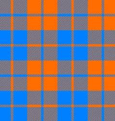 Tartan fabric texture seamless pattern orange and vector