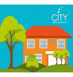 City urban landscape vector
