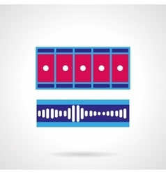 Blue and pink video processing icon vector