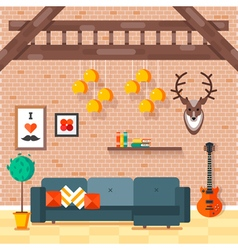 Loft living room 2 vector