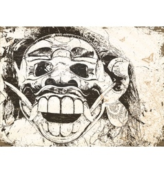 balinese mask vector image