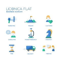 Office business modern thin line design icons and vector