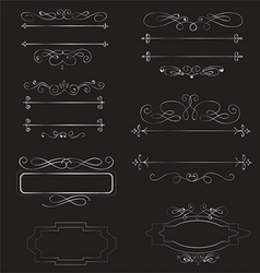 Decorative vintage borders and frames set vector