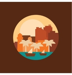A city in the eastern countries vector
